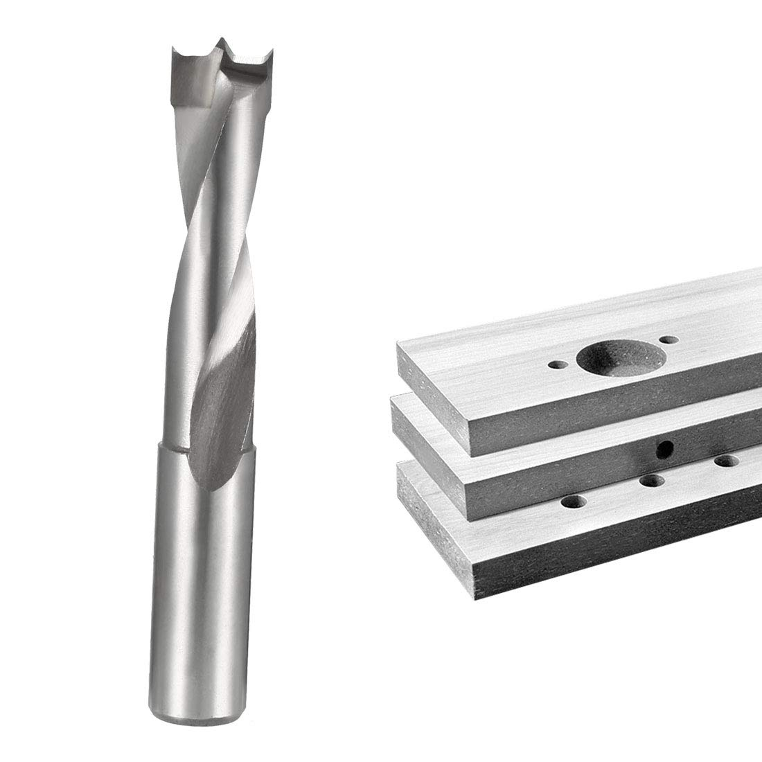 sourcing map Brad Point Drill Bits for Wood 14mm x 68mm Right Turning Carbide for Woodworking Carpentry Drilling Tool