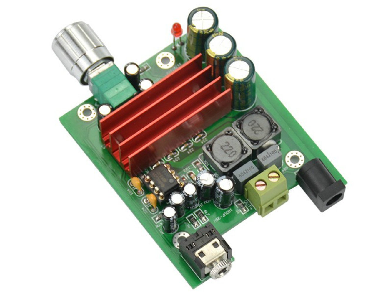 Best Rated In Subwoofer Amplifiers Helpful Customer Reviews Transformerless 10watt Led Driver Circuit Youtube Aoshike 8 25v 100w Tpa3116 Digital Power Amplifier Board Tpa3116d2 Ne5532 Opamp Product