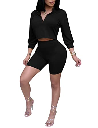Amazon Com Subtle Flavor Womens Casual 2 Piece Outfits 3 4 Sleeve