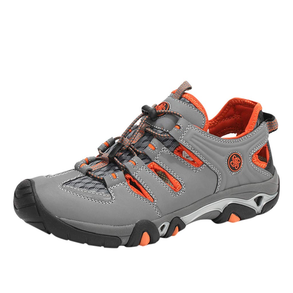 Hiking Shoes Men Lightweight Breathable Non-Slip Lace-Up Climbing Sneakers Mesh Soft Safety Sneakes for Hiking