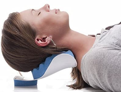 CHIROPRACTIC PILLOW - Cervical Neck Pillow to help ease Neck Pain and Shoulder Pain and Provide relief by Easing Tension - Therapeutic and Helps Spine Alignment By EcoGreen sleep pillows - 6137n h3DbL - Sleep Pillows Reviews and Buying Guide-Good Sleep with Good Pillows