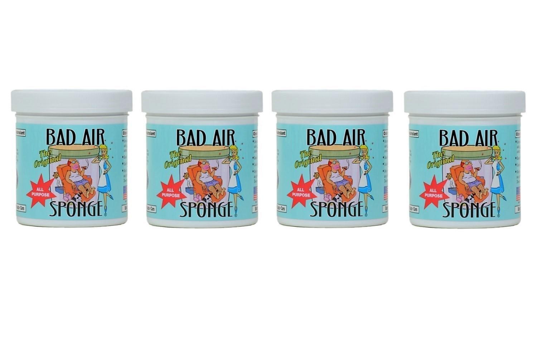 Bad Air Sponge Odor Neutralant Neutralizes and Absorbs Odors 14oz (4 X 14 oz)