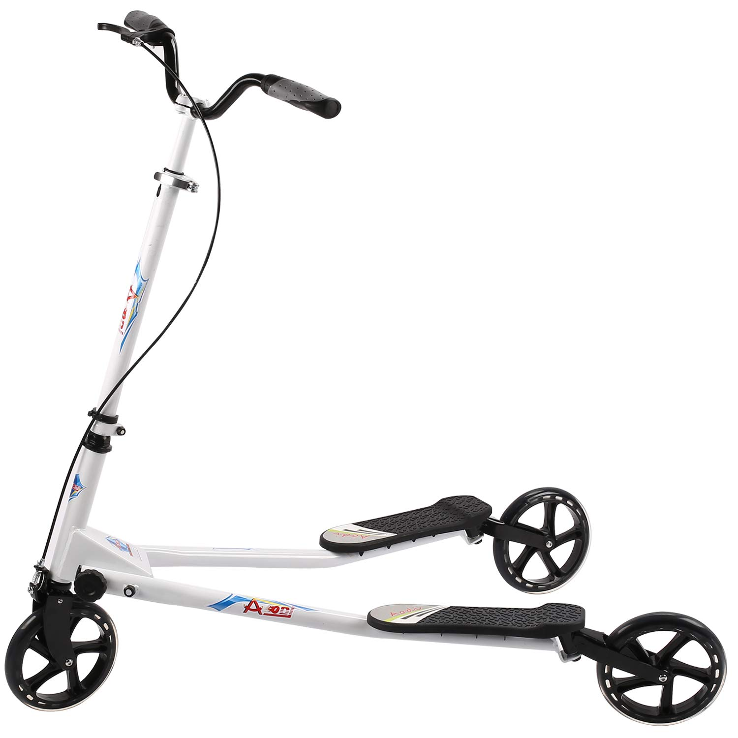 AODI 3 Wheeled Scooter - Height Adjustable Push Swing Wiggle Scooters with Drifting Self Propelling for Boys/Girl/Adult Age 8 Years Old and Up by AODI
