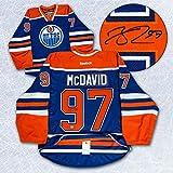 Connor McDavid Edmonton Oilers Autographed Blue Reebok Authentic On Ice Jersey