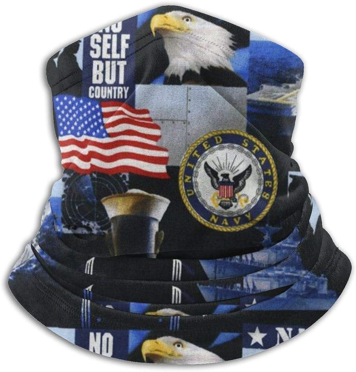 Bufanda Fleece Neck Warmer US Navy Eagle USA Flag No Self But Country Windproof Winter Ski Mascarilla Pasamontañas Media máscara Gaiter Warmer