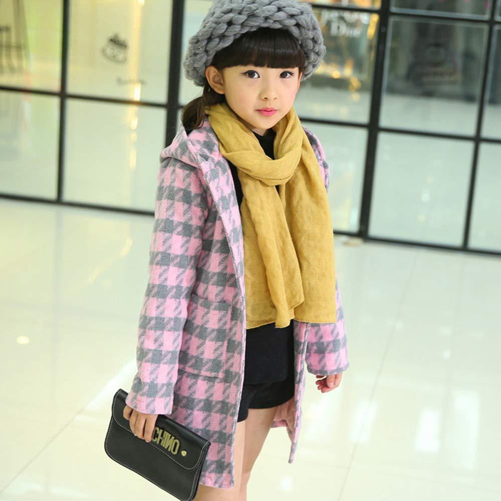 Fashion Plaid Jacket XFentech Little Girls Winter Coat