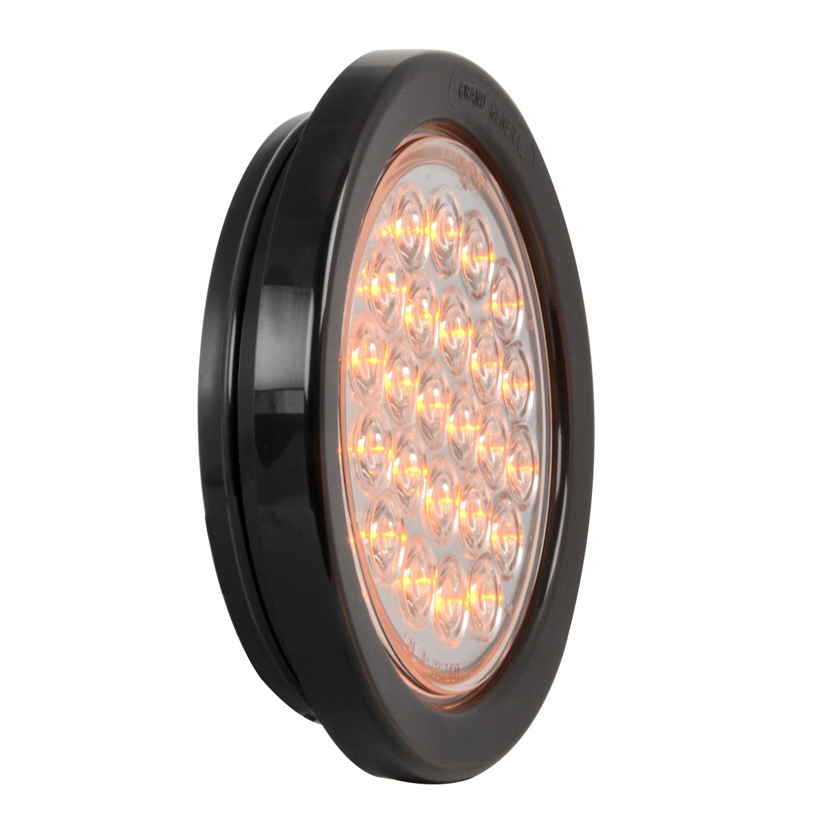 Grand General 78261BP Amber LED Park//Turn//Clearance Light Pearl 4 Round