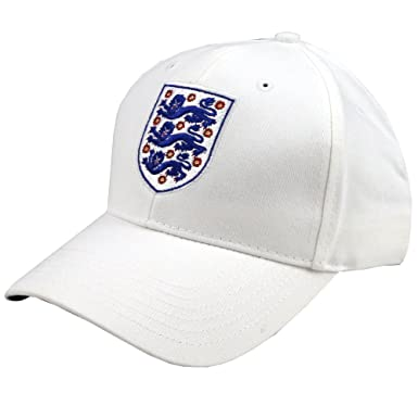 545a7ee6432 Official England FA Football Cap Hat England Baseball Cap (White)   Amazon.co.uk  Clothing