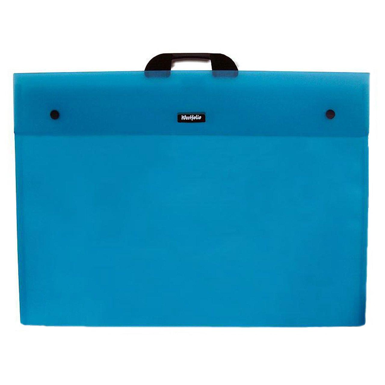 West A1, Design DKFAA1TU Westfolio - Carpeta plástica, DIN A1, West color azul da91b2