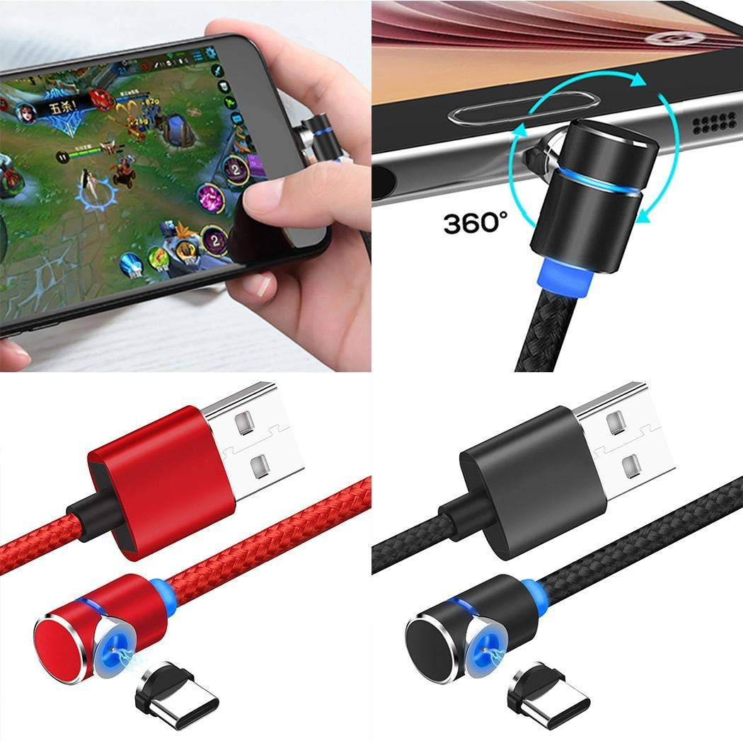 ACECOREE Sicherheitsadapter Magnetic Fast-Charge Attraction Elbow Head Data Cable Magnetkabel /& Datenkabel Magnetic f/ür Android,TypeC Magnet Ladekabel