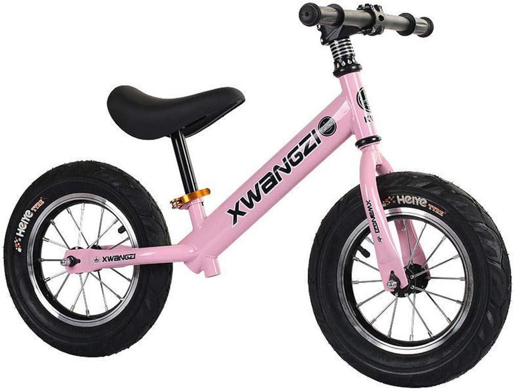 LIMUZI Neumáticos Equilibrio Bike Training Pro Niños Metal Primera inflables Bicicletas Empuje niños pequeños/n Pedal Vespa Bicicleta con reposapiés Interior Al Aire Libre