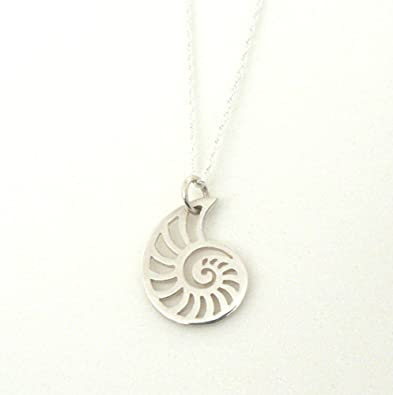 Best Designer Jewelry Sterling Silver Polished Shell Chain Slide Pendant