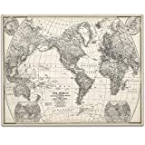 world map poster old - 1922 World Map - 11x14 Unframed Art Print - Great Home Decor Under $15