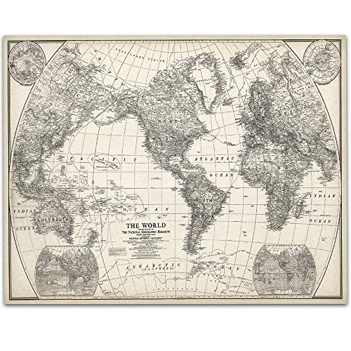 1922 World Map - 11x14 Unframed Art Print - Great Home Decor Under $15