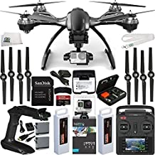 YUNEEC Typhoon G Quadcopter with GB20 Gimbal for GoPro (RTF) & Manufacturer Accessories + GoPro HERO4 Black + SanDisk Extreme PRO 32GB microSDHC Memory Card + 2 GoPro HERO4 Batteries + MORE