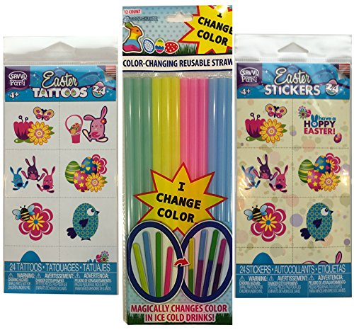 easter-theme-tattoos-stickers-and-color-changing-straws