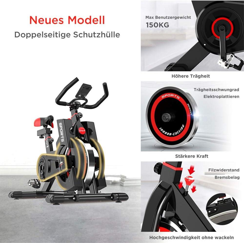 Fitnessbikes Heimtrainer Indoor Cycling Fahrrad Spinning-Bike LCD-Display 200kg