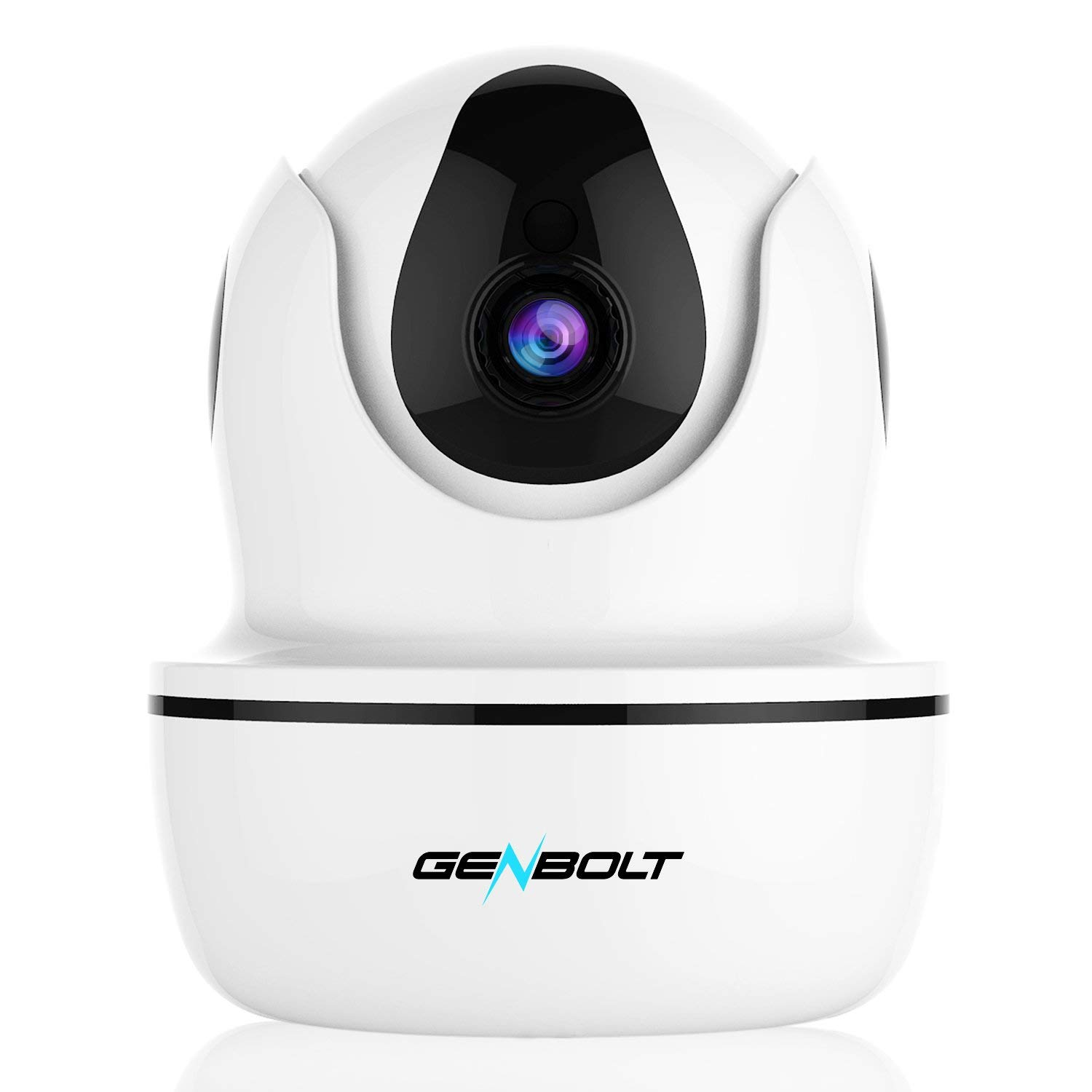 GENBOLT 1080P Wireless IP Security Camera WiFi HD CCTV Pan Tilt Spy Camera Indoor for Home Surveillance, Two Way Audio Motion Detection Remote Webcam, Dog Cam, Baby Monitor