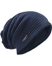 VECRY Men's Slouchy Beanie Knit Crochet Rasta Cap for Summer Winter