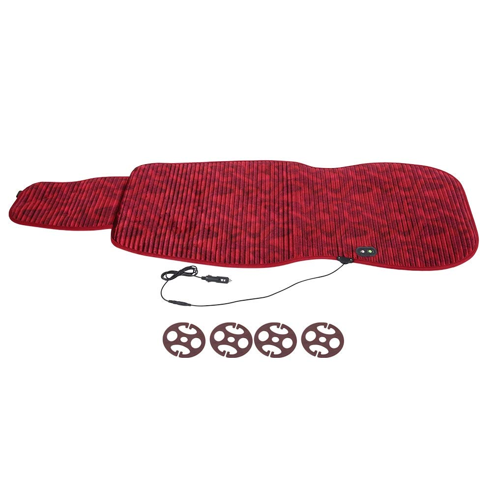 Duokon 12V Seat Heating Pad Warm Cover Heated Cushion Warmer Seat Accessories (Lafite Red)