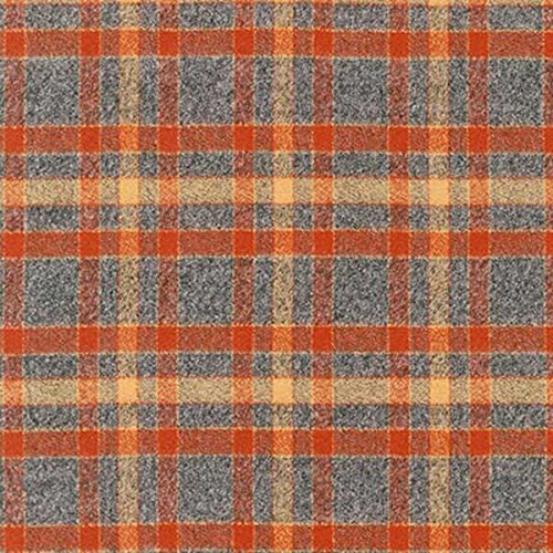 Robert Kaufman 0404868 Mammoth Flannel Plaid Fabric by The Yard, Rust ()