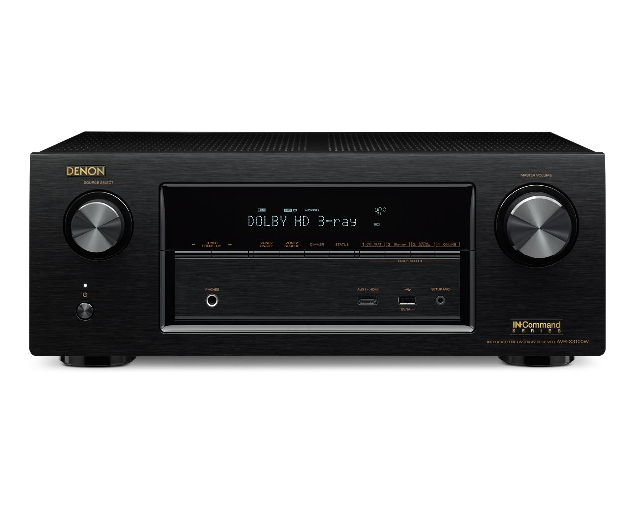 Amazon.com: Denon AVR-X3100W 7.2 Channel Full 4K Ultra HD AV Receiver with  Bluetooth and Wi-Fi (Discontinued by Manufacturer): Home Audio & Theater