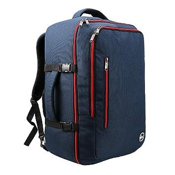 Mochila de Viaje. Mochila de Cabina aprobada para Vuelos como Equipaje de Mano. 55 x 40 x 20 (Azul Marino/Rojo): Amazon.es: Equipaje