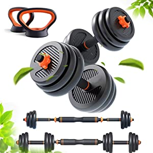 lolly-U Fitness Dumbbells Set Free Weights Adjustable Weight to 30-80lbs Home Fitness Equipment for Men and Women Gym Dumbbell Sets 30,40,60,80lbs(Suit) Multiple Weight kit Options