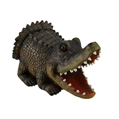 Open Mouth Alligator Decorative Gutter Downspout Extension Statue