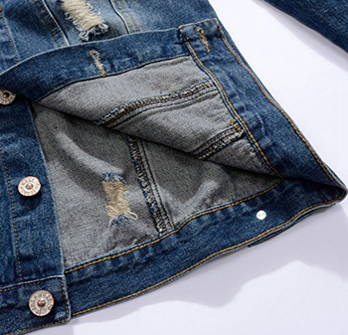 Denim Rivet Jean Image Comme Slim Manche Homme Jacket Yiiquan Loisir Blouson Mode Longues Veste taFHw1pq