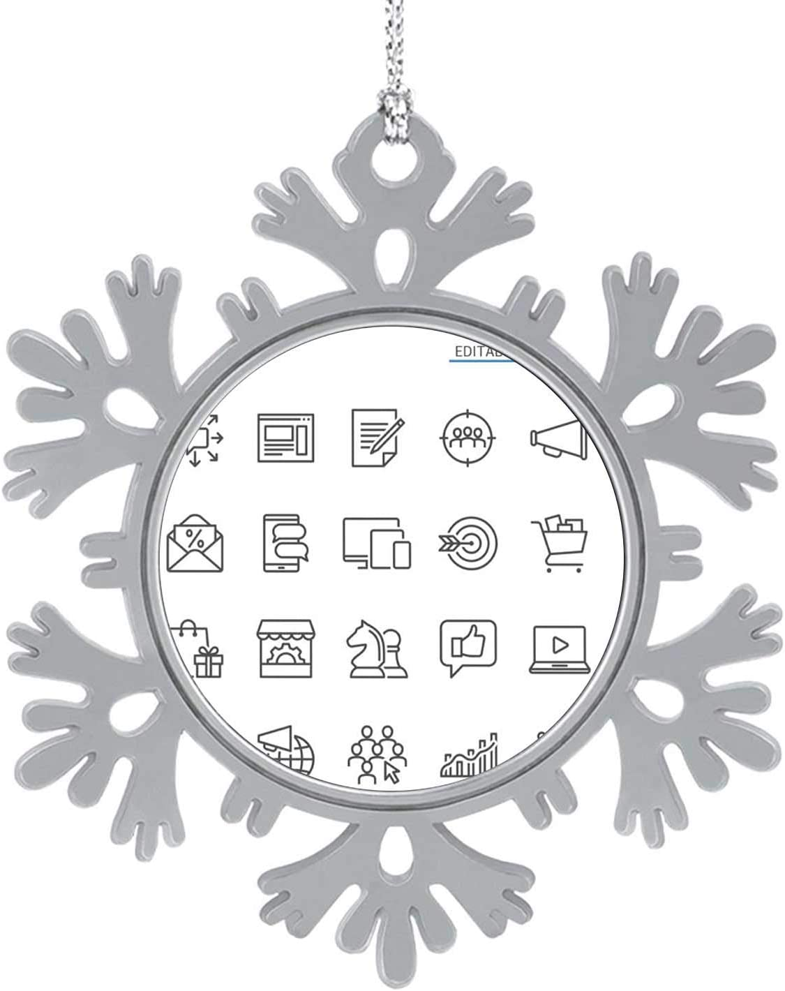 C COABALLA Marketing line Icons.Editable Stroke.Pixel Perfect. - Sports Target,Silver Snowflakes & Snowflakes Hanging New Year Party Home Decoration Store 8PCS