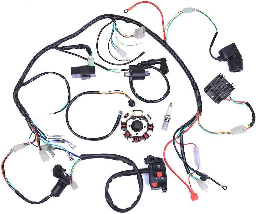 FairOnly Assembl/ée de redresseur CDI de m/étier /à tisser de fil de harnais de c/âblage /électrique pour lATV QUAD 125CC-250CC