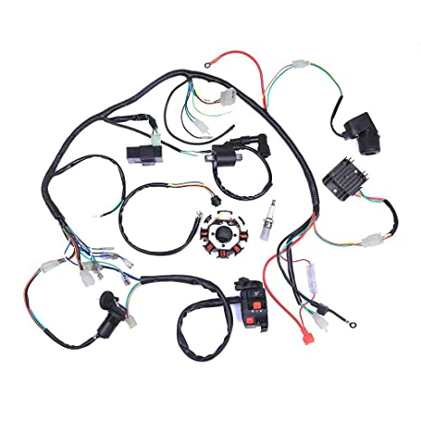 Leoie Electric Wiring Harness Wire Loom Cdi Stator Assembly For Atv