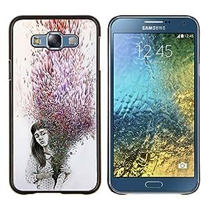 Stuss Case / Funda Carcasa protectora - Significado Deep Purple Gris oscuro emotivo - Samsung Galaxy E7 E700