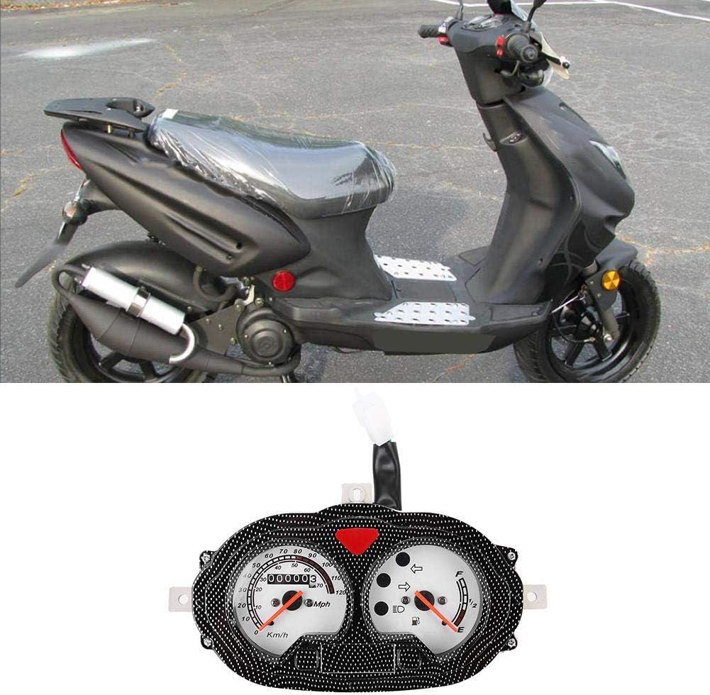 Motorradinstrument Universal Vintage Style Motorrad Roller Tachometer Kunststoff Dash Instrument