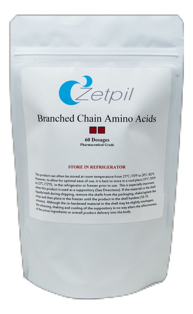 Zetpil Branch Chain Amino Acids Suppositories, 60 Count
