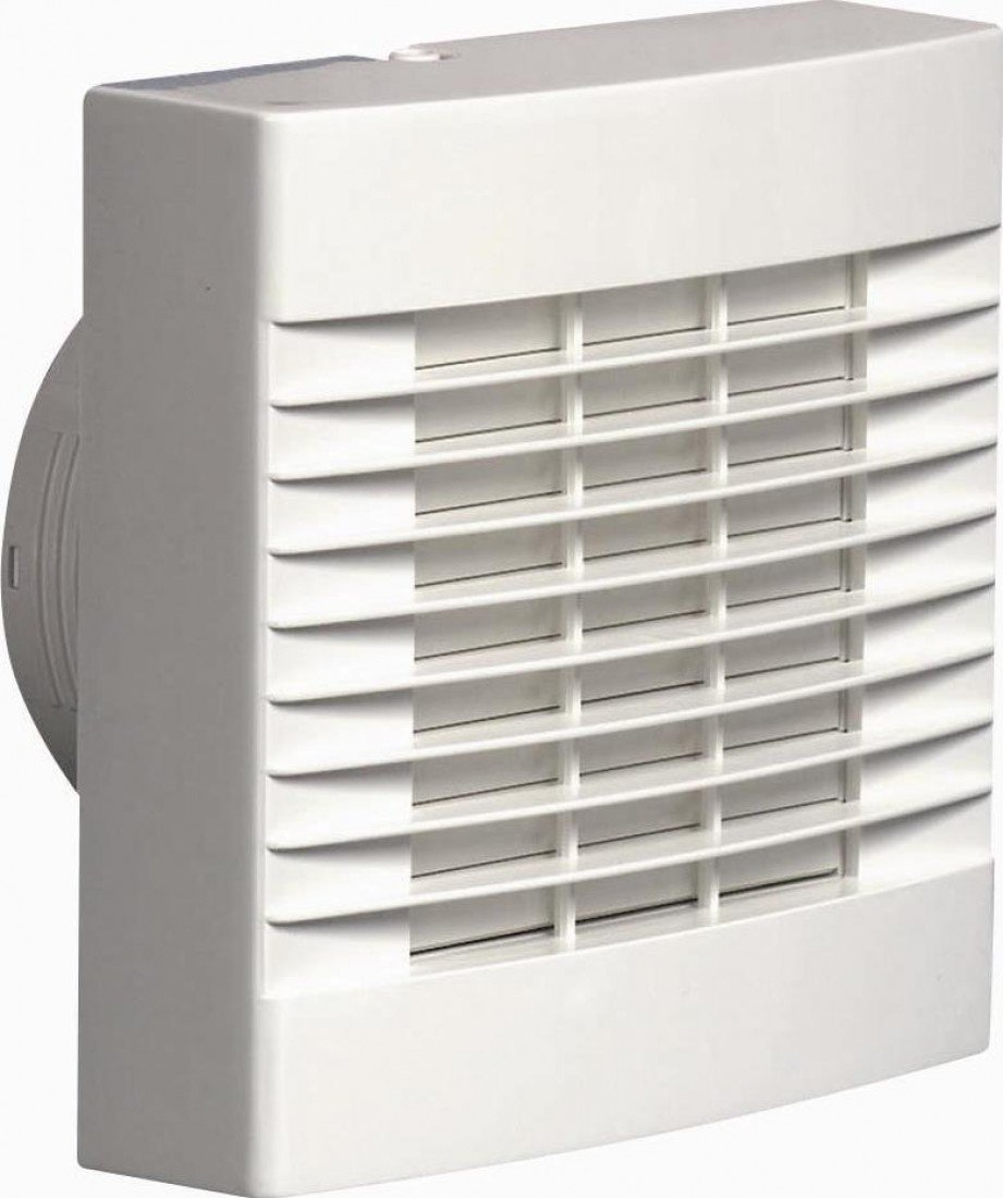 Airvent 459318A 100MM 4' Bathroom Humidity Extractor Fan With Humidistat, Pullcord And Automatic Shutters AC6106