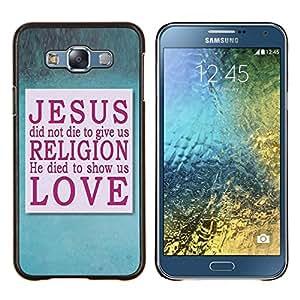 LECELL--Funda protectora / Cubierta / Piel For Samsung Galaxy E7 E700 -- Jesús --
