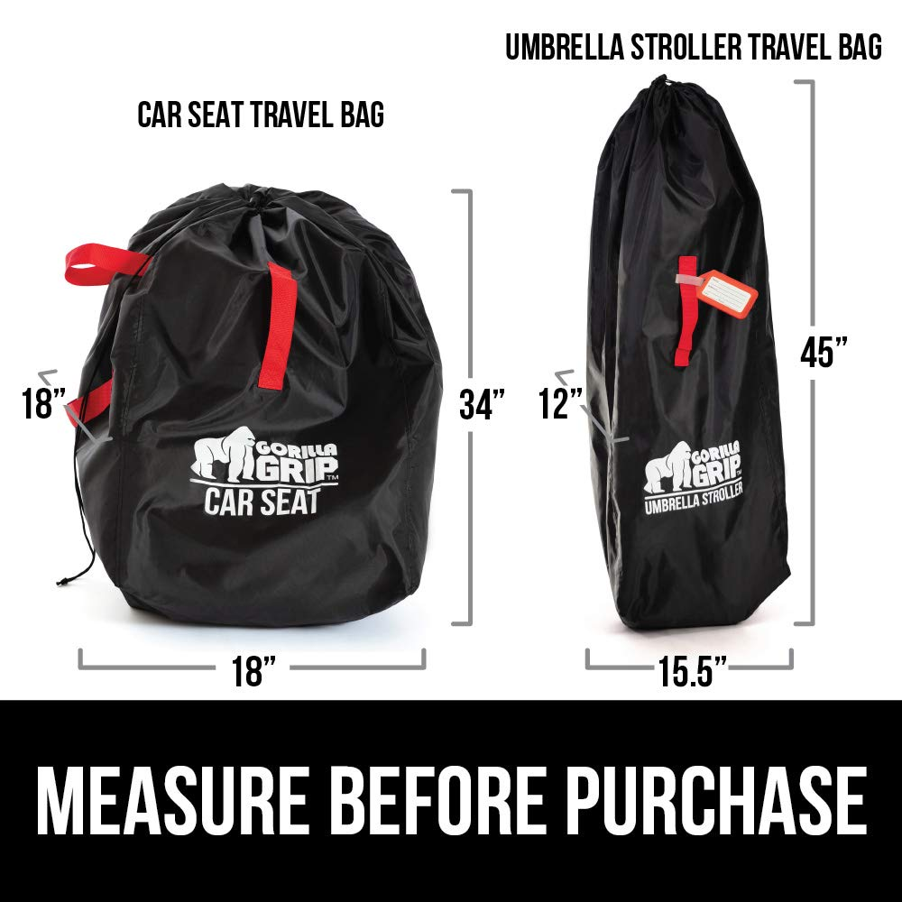 Gorilla Grip Umbrella Stroller Bag with Pouch, for Airplane Travel, Bonus Luggage Tag, Easy Carry, Universal Size Bags Fits Most Umbrella Strollers, for Airport Flying with Toddler Kids, Gate Check by Gorilla Grip (Image #8)