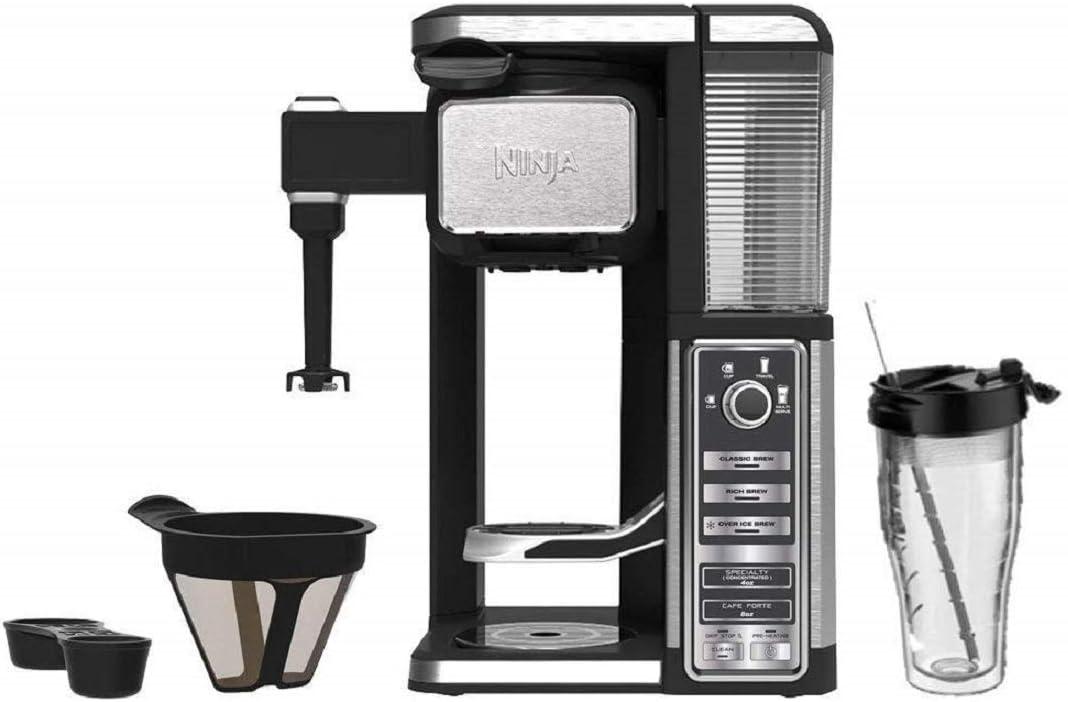 Ninja Single-Serve Coffee Bar System with Tumbler (Renewed)