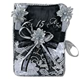 Select Quinceanera Photo Album Guest Book Kneeling Tiara Pillows Bible Q3153 (English Bible)