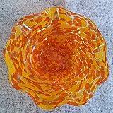 Glass Wavy Bowl - Orange