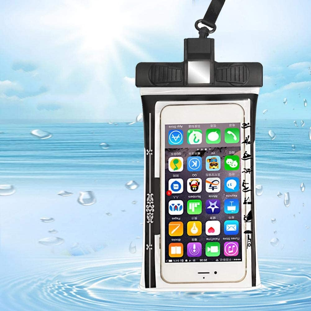 Waterproof Phone Case Portable IPX8 Whistle Phone Underwater Dry Pouch with Lanyard for Riding Mountaineering Swimming Diving for A 5.2-6.44 Screen Smartphones