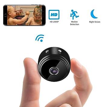 Cámara Espía Oculta, Kingone HD 1080P Mini WiFi Cámara Espía Portátil Interior Hogar Cámara IP de Seguridad con Visión Nocturna para iPhone/iPad/ Android/PC: ...