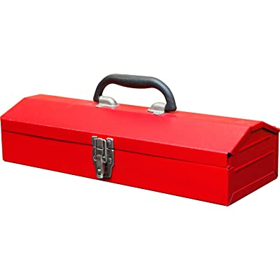 "BIG RED TB102 Torin 16"" Hip Roof Style Portable Steel Tool Box with Metal Latch Closure, Red: Automotive"