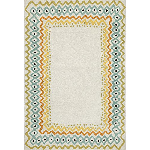 - Liora Manne CAP71168644 Capri Tropical Ethnic Tribal Geometric Border Indoor/Outdoor Border Rug 7'6
