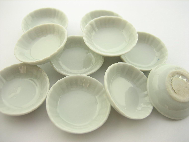 10x30 mm White Round Bowls Dollhouse Miniatures Ceramic Supply Deco 13268 Wonder Miniature