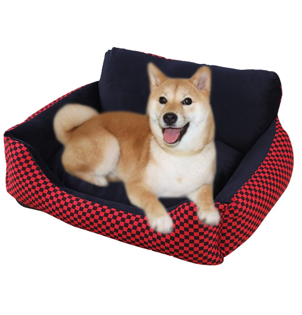 WERSHOW Soft Pet Bed Sofa for Dog Cat Indoor Pet Bed Soft Pet Sofa Sponge with Funny Toy Bone,Mat and Summer Sleeping Mat(B Type, M)