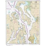 Paradise Cay Publications, Inc. NOAA Chart 18441: Puget Sound-Northern Part, 34.2 X 45.1, Traditional Paper