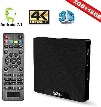 COOLEAD W95 Android TV Caja Android 7.1 Smart TV Box 64bit Quad ...